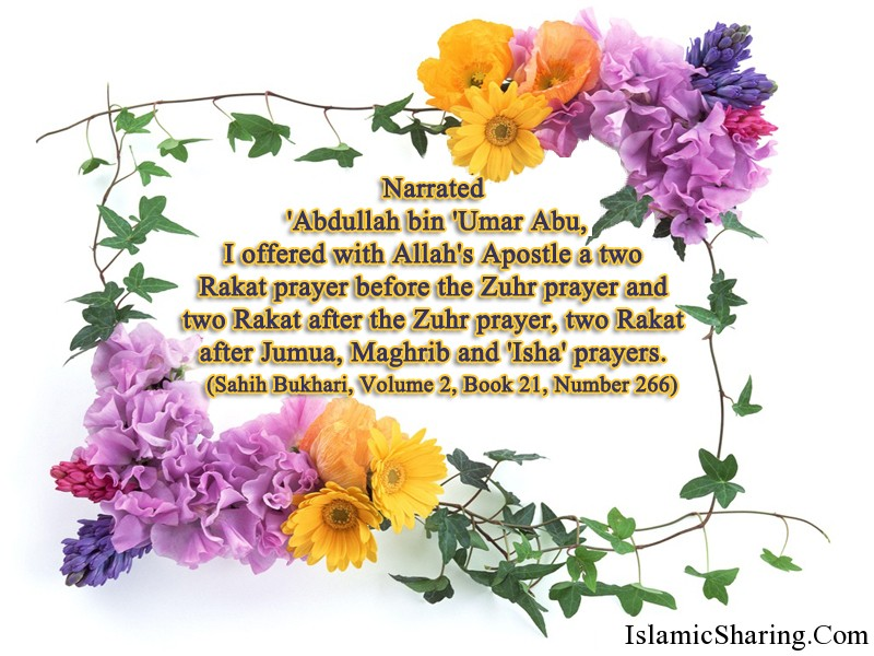 Sahih Bukhari, Volume 2, Book21, Number 266 | Islamic Sharing